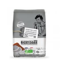 Biodyssée - Dosettes 100% arabica Medium compatibles Senseo x36