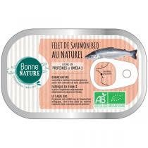 Bonne Nature - Filet de saumon bio au naturel 125g