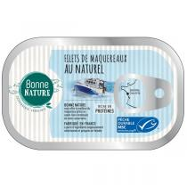 Bonne Nature - Filets de maqueraux au naturel 100g