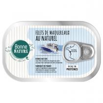 Bonne Nature - Filets de maqueraux au naturel 100g