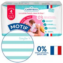 Carryboo - Pack 4x Jumbo 36 Culottes T4 Ecologiques Dermo-sensitives
