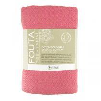 Karawan - Fouta en Coton bio - Sand & Rose Indien - 100x200cm