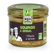 Les BIO DU BOCAL - Mousse saumon et aneth 90g