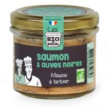 Les BIO DU BOCAL - Mousse saumon et olives noires 90g