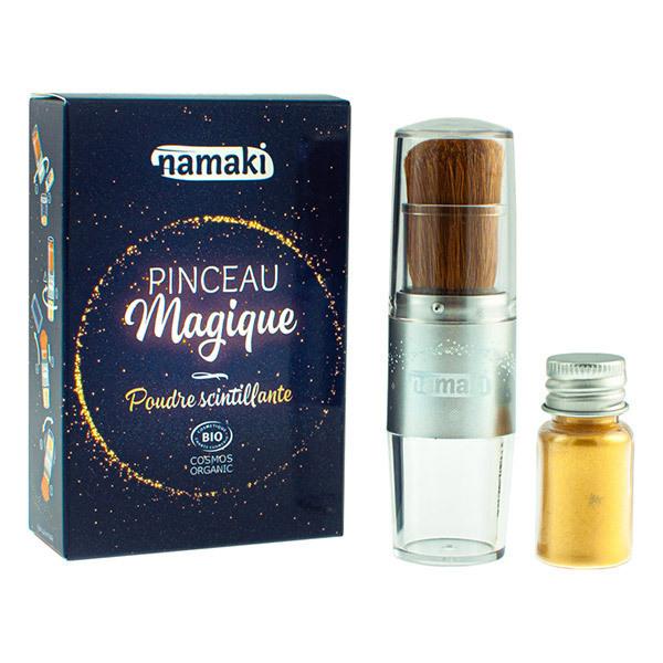Namaki - Poudre scintillante doree et son Pinceau Magique - des 3 ans