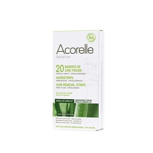 Acorelle - Bandes de cire froide Aisselles et Maillot 10x2