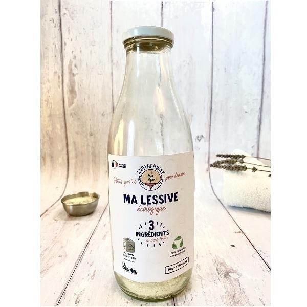 Anotherway - Lessive écologique savon de Marseille bouteille 1L