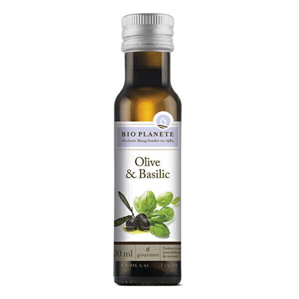 Bio Planète - Huile olive et basilic 100ml