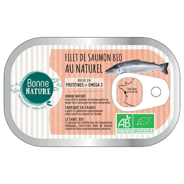 Bonne Nature - Filet de saumon bio au naturel 125g
