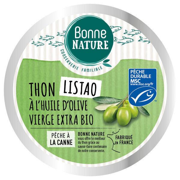 Bonne Nature - Thon Listao à l'huile d'olive vierge extra bio 160g