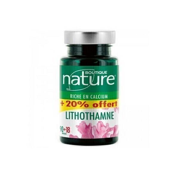 Boutique Nature - Lithothamne 90 + 18 gélules végétales