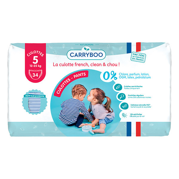 Carryboo - 34 Culottes Ecologiques Dermo-sensitives Taille 5 - Jumbo