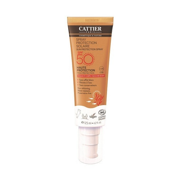 Cattier - Spray protection solaire SPF 50 Visage et corps 125ml