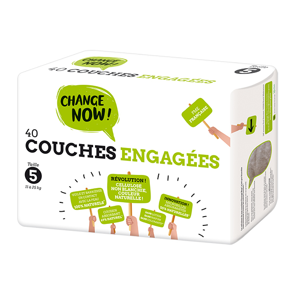 Change Now - Pack 8 x 40 Couches engagées T5, 11-25kg