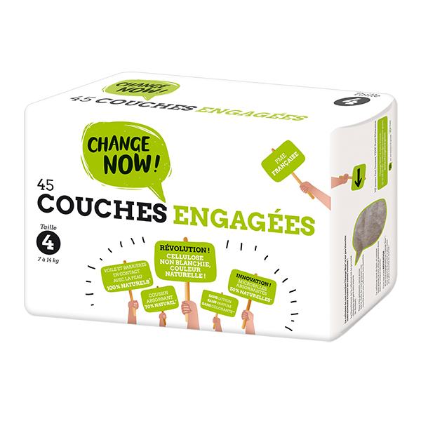 Change Now - Pack 4 x 45 Couches engagées T4, 7-14kg