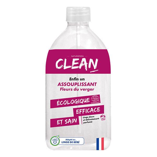 CLEAN - Assouplissant Fleurs du verger 40 lavages 1L