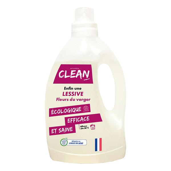 CLEAN - Lessive Fleurs du verger 30 lavages 1,5L