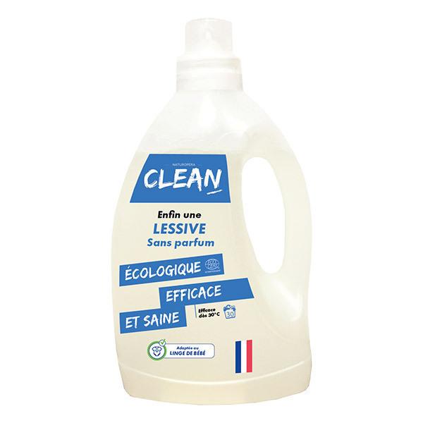 CLEAN - Lessive Sans parfum 30 lavages 1,5L