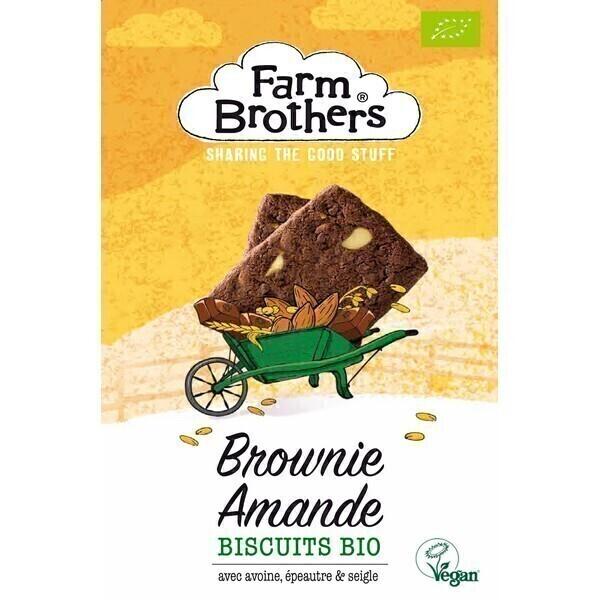 Farm Brothers - Biscuits brownie amande 150g