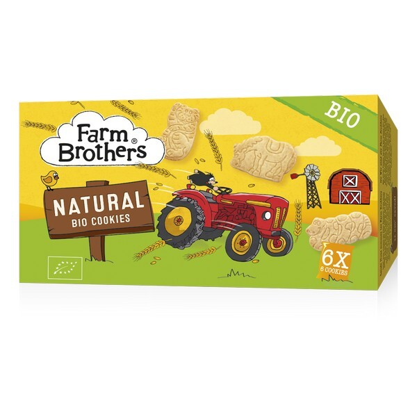 Farm Brothers - Biscuits enfants nature 6x6 biscuits 102g