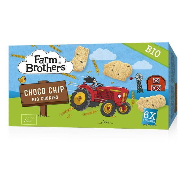 Farm Brothers - Biscuits enfants pépites de chocolat 6x6 biscuits 102g