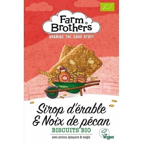 Farm Brothers - Biscuits sirop d'érable et noix de pécan 150g