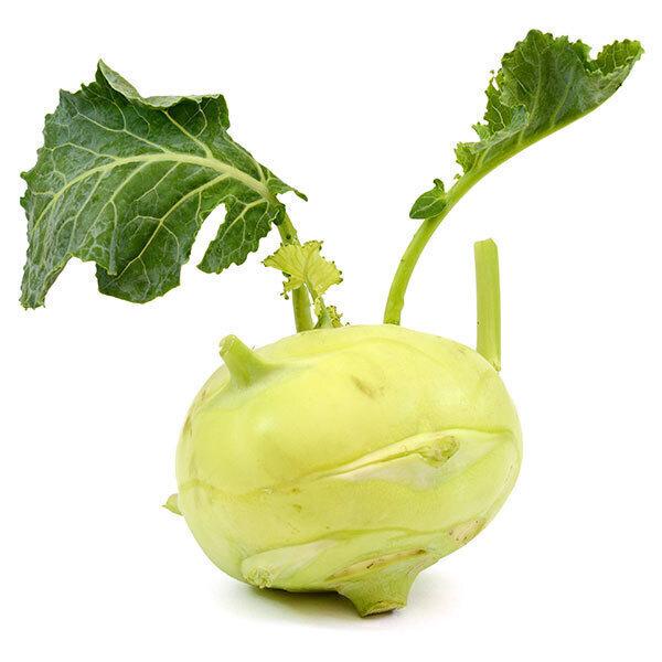 Fruits & Légumes locaux IDF Bio - Chou rave vert. Ile de France