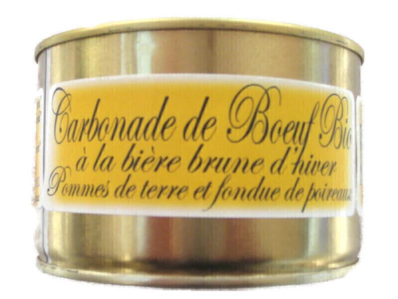 Gaec de Montredon - Carbonade de Boeuf à la bière brune & fondue de poireaux 450g