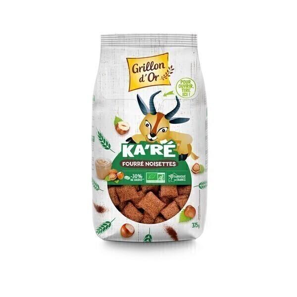 Grillon d'or - Céréales Ka'Ré fourrées noisette allégées en sucre 375g