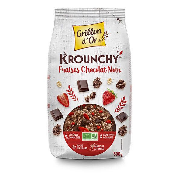 Grillon d'or - Krounchy Fraises Chocolat noir 500g