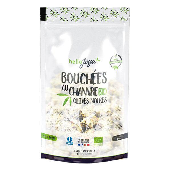 Hello Joya - Bouchées au chanvre bio aux olives noires 50g