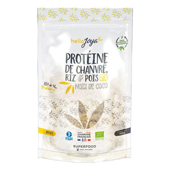 Hello Joya - Protéines de chanvre, riz, pois à la noix de coco 400g