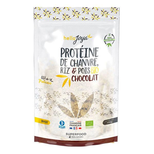 Hello Joya - Protéines de chanvre, riz, pois au chocolat 400g