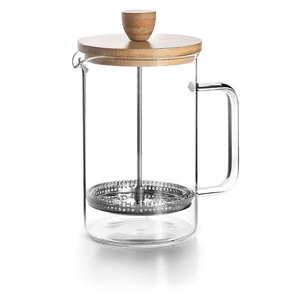 Lacor - Cafetière à piston Wood - 6 tasses