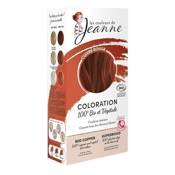 Les couleurs de Jeanne - Coloration 100% bio & végétale - Cuivré rouge 2x50g