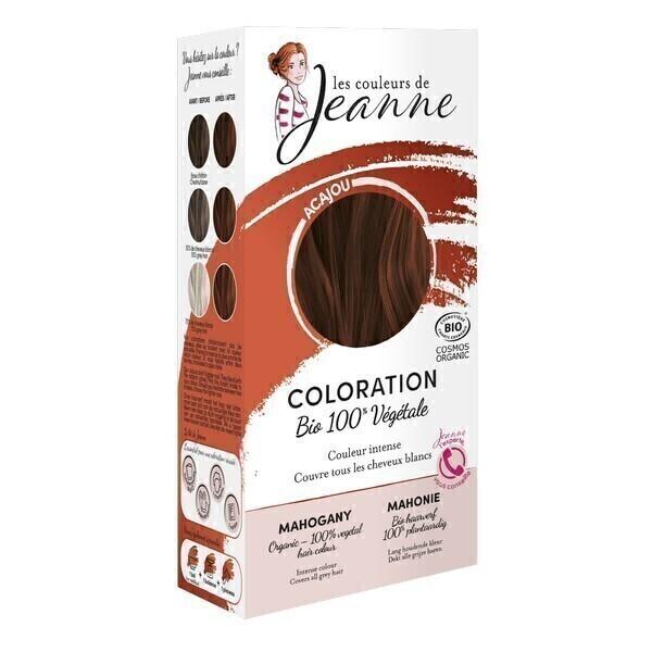 Les couleurs de Jeanne - Coloration 100% végétale - Acajou 2x50g