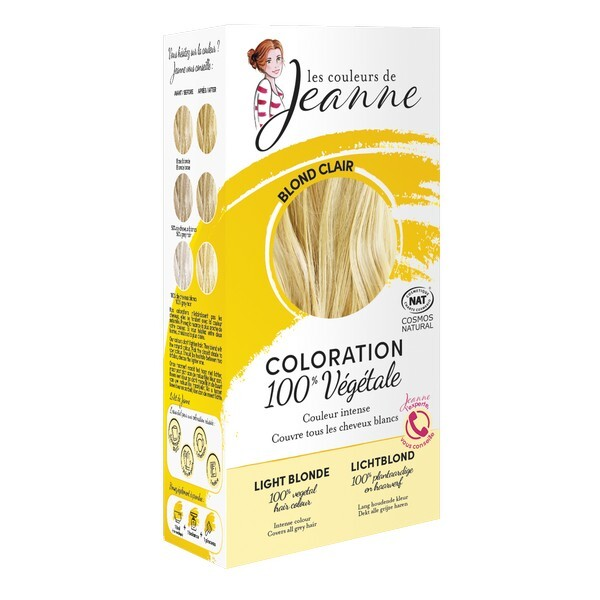 Les couleurs de Jeanne - Coloration 100% végétale - Blond clair 2x50g