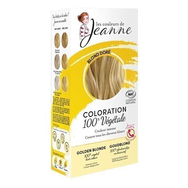 Les couleurs de Jeanne - Coloration 100% végétale - Blond doré 2x50g