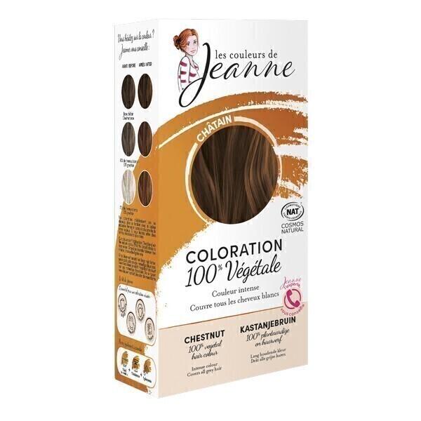 Les couleurs de Jeanne - Coloration 100% végétale - Châtain 2x50g