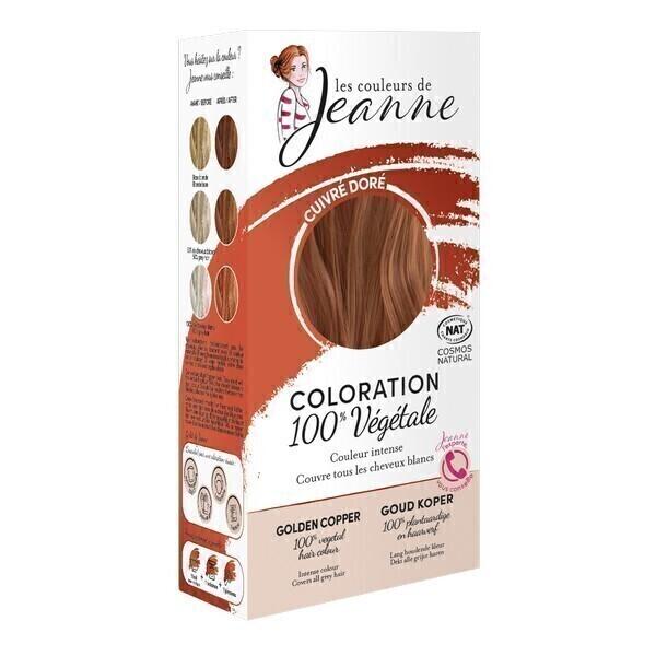 Les couleurs de Jeanne - Coloration 100% végétale - Cuivré doré 2x50g
