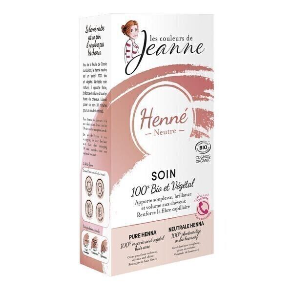 Les couleurs de Jeanne - Henné neutre - Soin 100% bio & végétal 2x50g