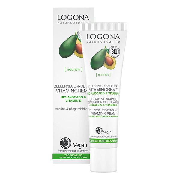Logona - Crème vitaminée pour la régénération cellulaire - 30ml