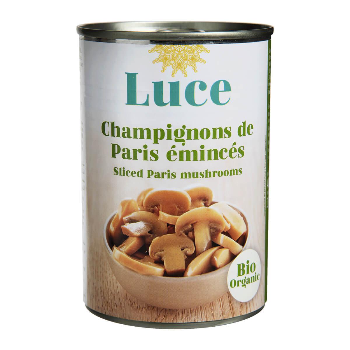 Luce - Champignons de Paris émincés 400g