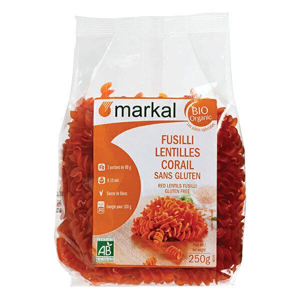 Markal - Fusilli lentilles corail sans gluten 250g
