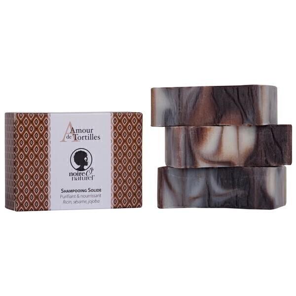 "NOIREÔNATUREL - Shampooing solide ""Amour de tortille"" 100g"