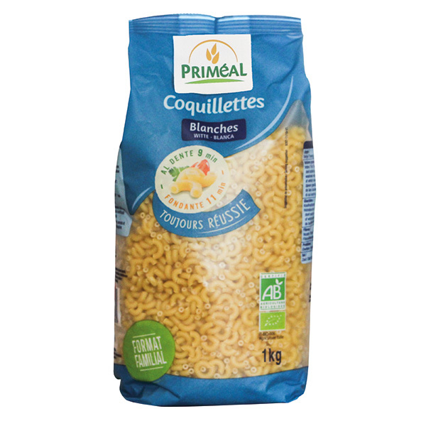 Priméal - Coquillettes blanches 1Kg