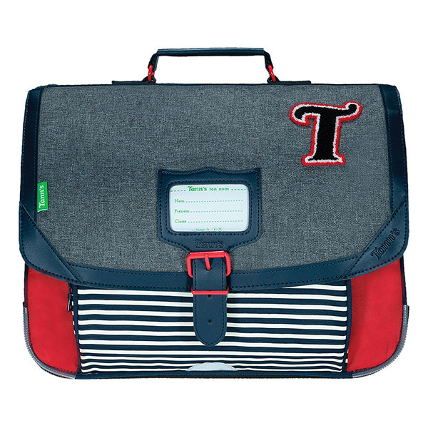 Tann's - Cartable 38 Les Chinés Teddy Gris / Rouge