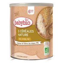 Babybio - 3 Céréales Nature 6 mois + 220g