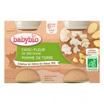 Babybio - Chou-fleur de Bretagne Pomme de terre 6m + 2x130g