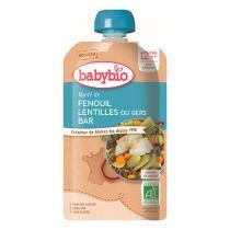 Babybio - Mijoté de Fenouil Lentilles du Gers et Bar dès 12 mois 180g